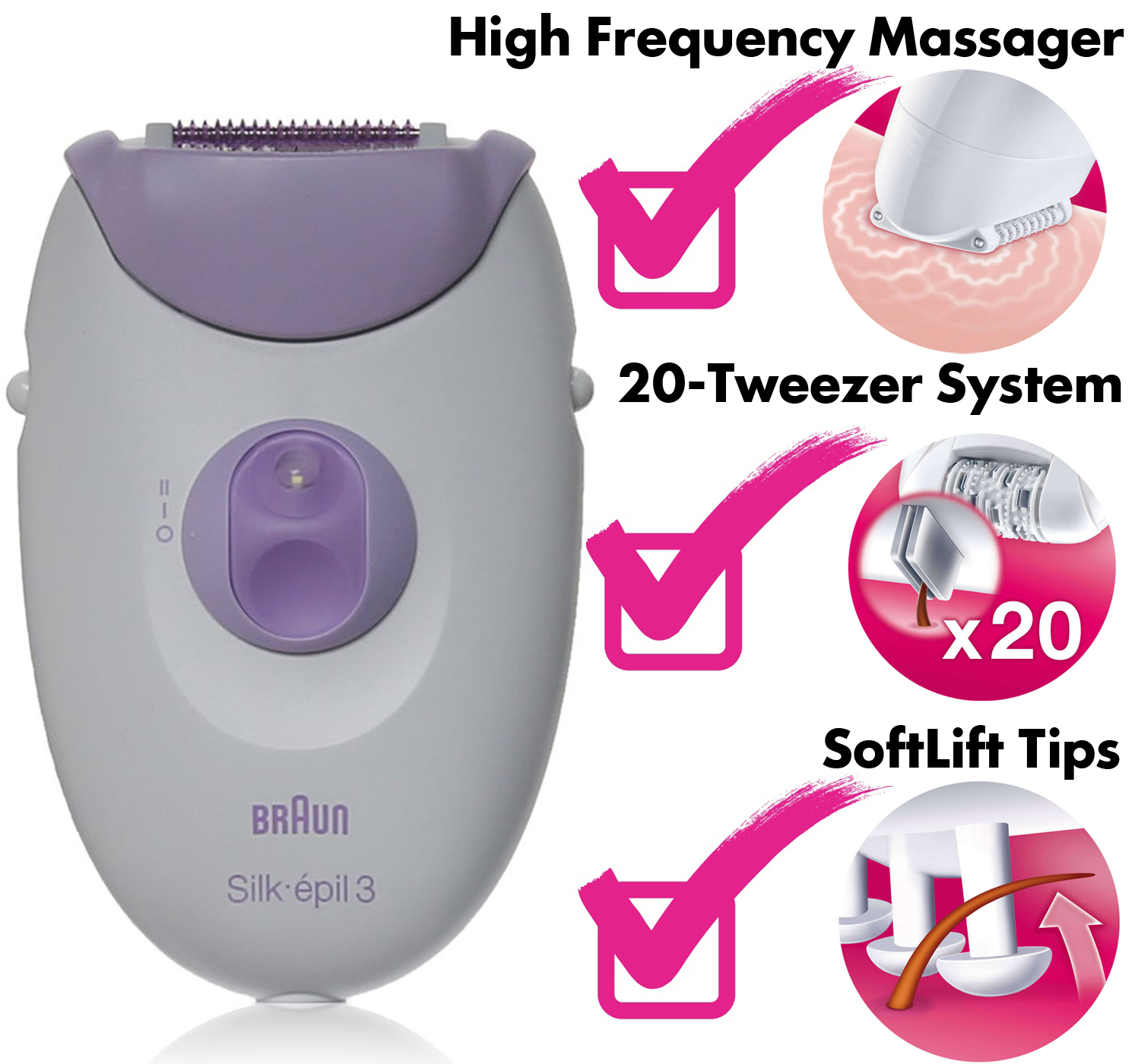 braun silk epil 3 epilator review. Black Bedroom Furniture Sets. Home Design Ideas